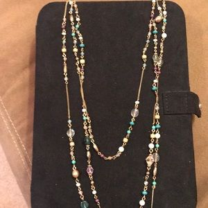 Gold 3 strand necklace